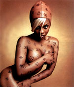 This model not sold at the Bond St LVMH. Hip Hop Immortal Lil Kim by David Lachapelle